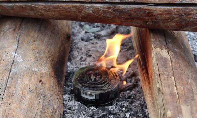 ¿Cómo hacer una lata de fuego?
